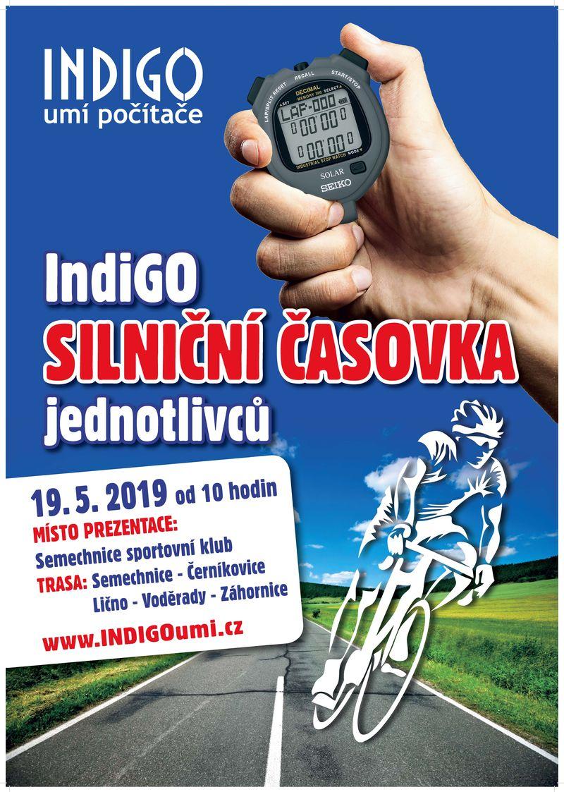 Silniční časovka INDIGO 2019 :  Semechnice - Houdkovice - Byzhradec - Černíkovice - Voděrady - Vojenice - fotogalerie